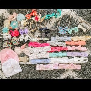 Baby bow lot